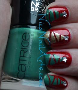 christmas nail art kerst