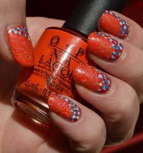 notd oranje glitter