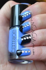 zwart-blauw diamantjes