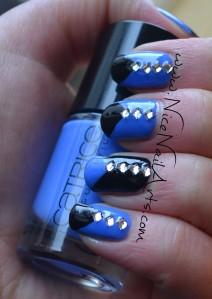 zwart-blauw en diamantjes